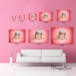 Atlanta | Snellville Newborn & Family Photographer: Sonya Davis Photography shows how your images would look on your wall.